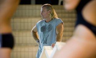 L'entraîneur de natation, Philippe Lucas, lors d'une séance à la piscine de Saint-Germain-en-Laye, le 30 septembre 2009.