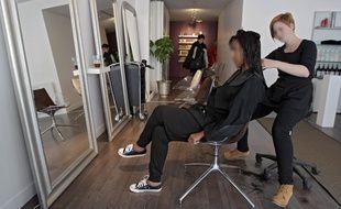 Illustration sur un salon de coiffure à Lille.