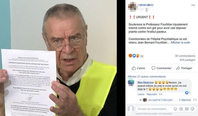 Le professeur Fourtillan, figure anti-vaccin, aurait été hospitalisé contre son gré dans le Gard