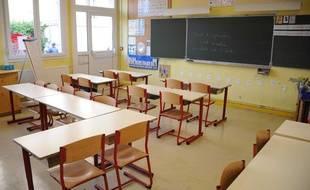Illustration: Une salle de classe, près de Metz.