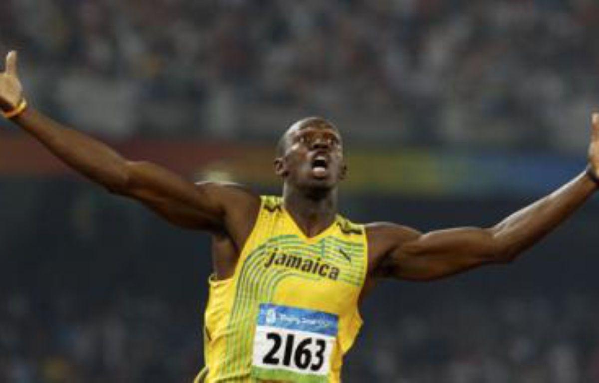 Le Jamaïquain Usain Bolt après sa victoire au 200m aux Jeux olympiques, le 20 août. Il détient le nouveau record du monde avec 19,30 secondes.  – REUTERS/Gary Hershorn