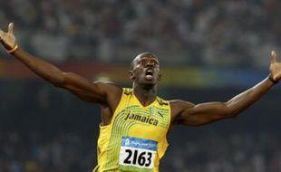 Le Jamaïquain Usain Bolt après sa victoire au 200m aux Jeux olympiques, le 20 août. Il détient le nouveau record du monde avec 19,30 secondes.