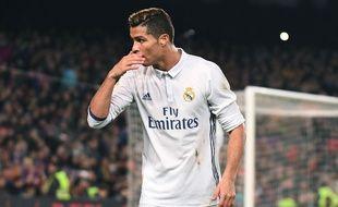 Cristiano Ronaldo lors du Clasico le 3 décembre 2016.