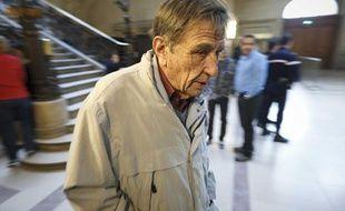 Léonide Kameneff, le fondateur de l'Ecole en bateau, au palais de justice de Paris, le 5 mars 2013