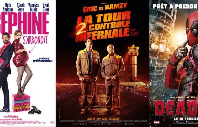 «Joséphine s'arrondit», «La Tour 2 contrôle infernale» et «Deadpool»
