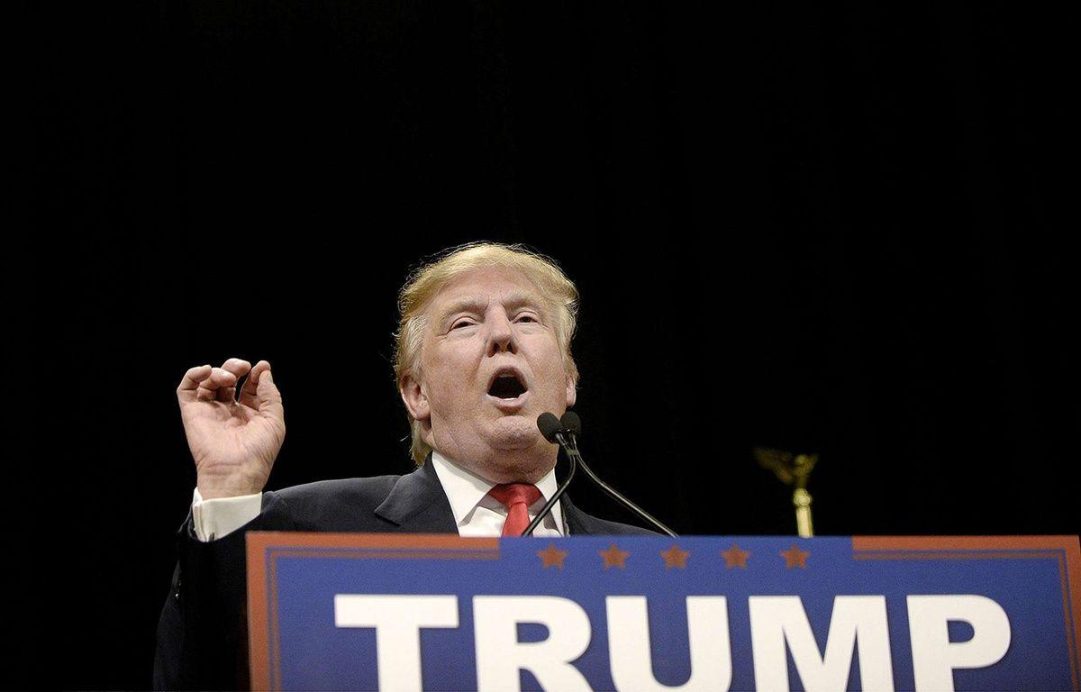 Donald Trump en Caroline du Sud, le 19 février 2016. – SIPANY/SIPA