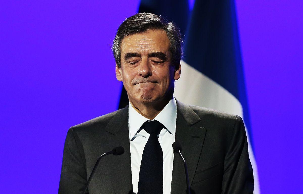 François Fillon en meeting à Caen, le 16 mars 2017. – CHARLY TRIBALLEAU / AFP