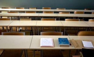 Une salle d'examens de l'Université Lyon 2, en 2009.