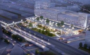 La future gare de Saint-Augustin sera rebaptisée Nice-aéroport lorsqu'elle passera à deux fois deux voies, à l'horizon 2026