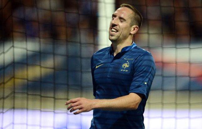 Franck Ribéry, le 5 juin 2012 contre l'Estonie, au Mans.