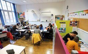 L'unité localisée pour l'inclusion scolaire du collège Gérard-Philipe, dans le XVIIIe arrondissement de Paris.