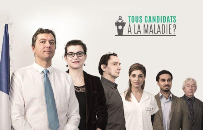 Affiche de la campagne de France Alzheimer Tous candidats à la maladie.