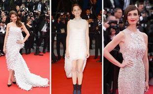 Festival De Cannes La Robe Blanche La Star Du Tapis Rouge