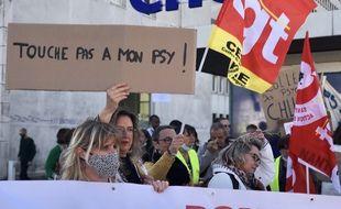 Manifestation des psychologues à Nantes, le 28 septembre 2021