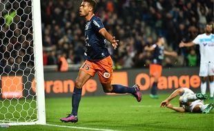 Steve Mounié a inscrit le but du 3-1 pour Montpellier face à Marseille, vendredi 4 novembre.