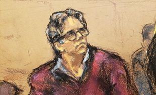 Le gourou de la secte Nxivm, Keith Raniere, à son procès, à New York, le 19 juin 2019