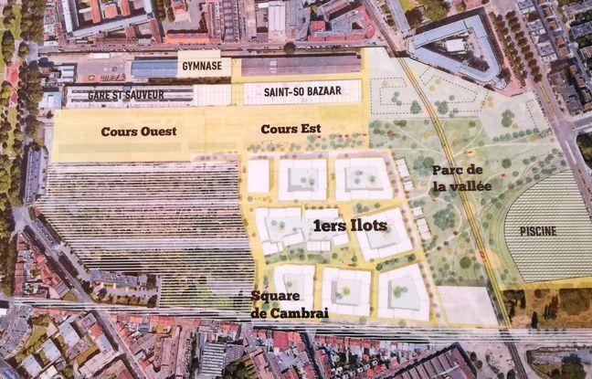 Photo du projet de quartier Saint-Sauveur, à Lille.