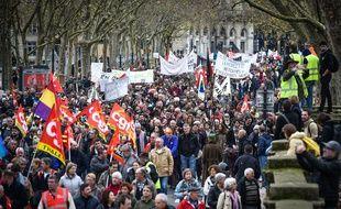 Lors de la manifestation du 17 décembre à Bordeaux.