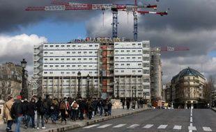 La Samaritaine en travaux, le 4 mars 2016 à Paris