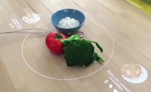 La table connectée de la cuisine du futur telle que l'imagine Ikea.