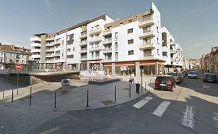 Le lieu de l'accident ou de l'agression, à Boulogne-sur-Mer.