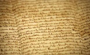 Un détail de la Magna carta, texte fondateur en Grande-Bretagne datant de 1215.