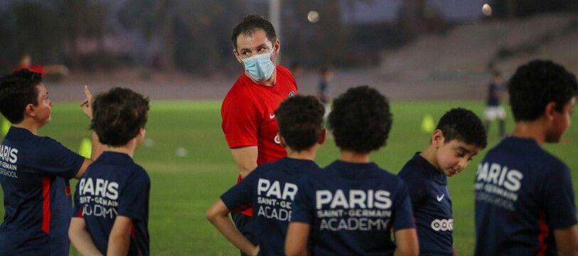 Un entraînement à la PSG Academy de Doha au Qatar.