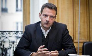 Jérôme Kerviel dans le bureau de son avocat Me Koubbi, le 9 septembre 2013.  // Photo : V. Wartner / 20 Minutes