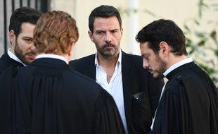 Jérome Kerviel (au centre), et son avocat Me Koubbi (à droite), le 23 septembre