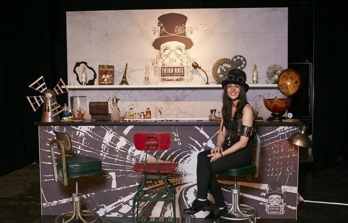 Pour l'épreuve finale, Jennifer Le Nechet avait conçu un bar éphémère dans un style western futuriste.  – Photo Diageo World Class