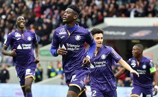 Yaya Sanogo, seul buteur du match remporté par Toulouse face à Guingamp, le 10 mars 2019 au Stadium.