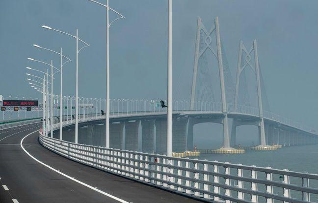 Le pont Hong Kong-Zhuhai-Macao en Chine.