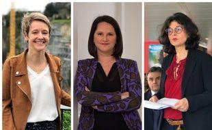 Les trois candidates à la mairie de Nantes : Laurence Garnier, Johanna Rolland et Valérie Oppelt.