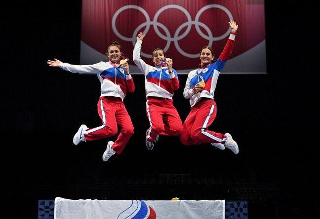 Les sabreuses russes ont battu la France en finale olympique.