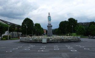 Le Sanctuaire de Lourdes à l'heure du coronavirus. (Illustration)