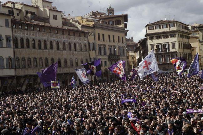 Le parvis de la basilique Santa Croce de Florence, le 8 mars 2018.