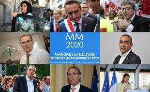 Des candidats potentiels, probables ou déjà distancés pour la mairie de Marseille.