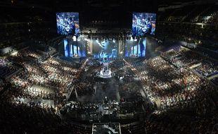 Le Staples Center de Los Angeles, lors de la finale du championnat du monde de League of Legends en 2013.