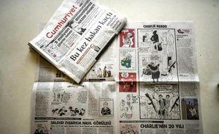 Les pages du journal turc Cumhuriyet, le 14 janvier 2015