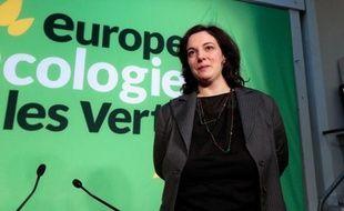 La secrétaire nationale d'EELV Emmanuelle Cosse à Paris le 16 janvier 2014