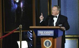 Sean Spicer aux Emmy Awards, le 17 septembre 2017.