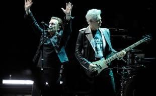 Le groupe U2 en concert à l'O2 Arena de Londres en 2018