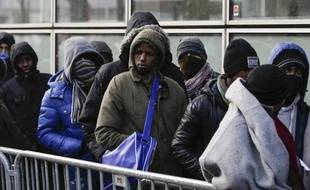 Des migrants à Paris en 2017.