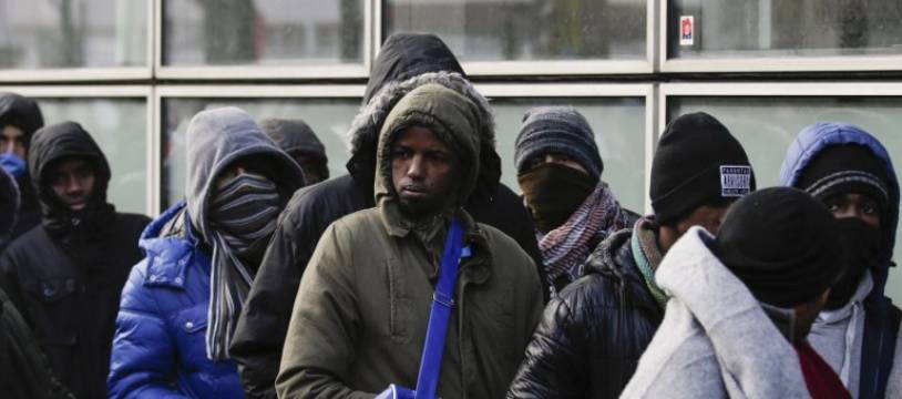Des migrants à Paris en 2017.