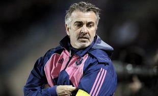 L'entraîneur du Stade Français Jacques Delmas lors d'un match contre Albi, le 5 novembre 2009