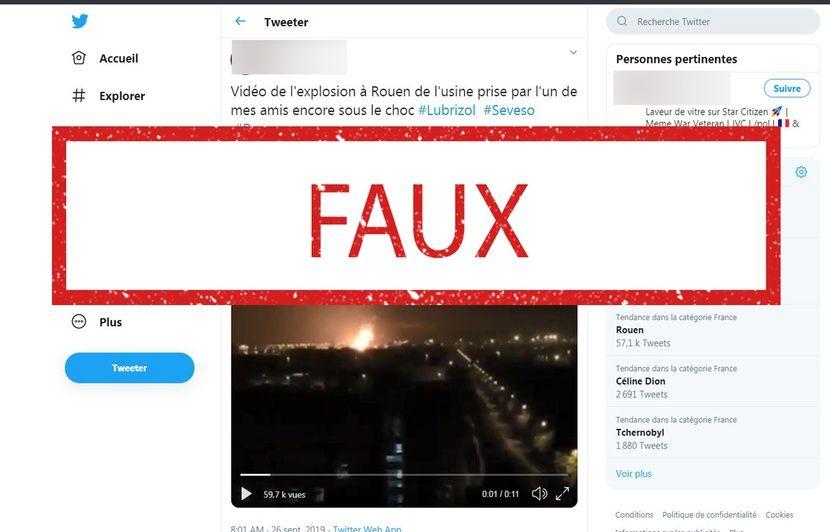 Incendie de l'usine Lubrizol à Rouen : Attention à cette vidéo qui ne montre pas l'incendie du site Seveso