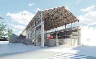 L'ancienne halle Girard baptisée H7 réunira des start-up du numérique en développement dès avril 2019 à Lyon.