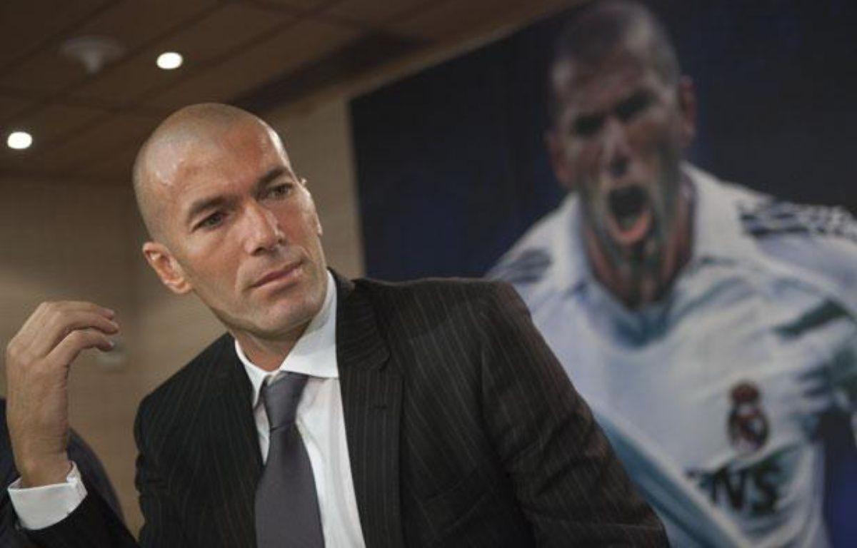 Zinédine Zidane, le 3 juin2011, lors de la présentation d'un livre sur lui, à Madrid. – J.MEDINA/REUTERS