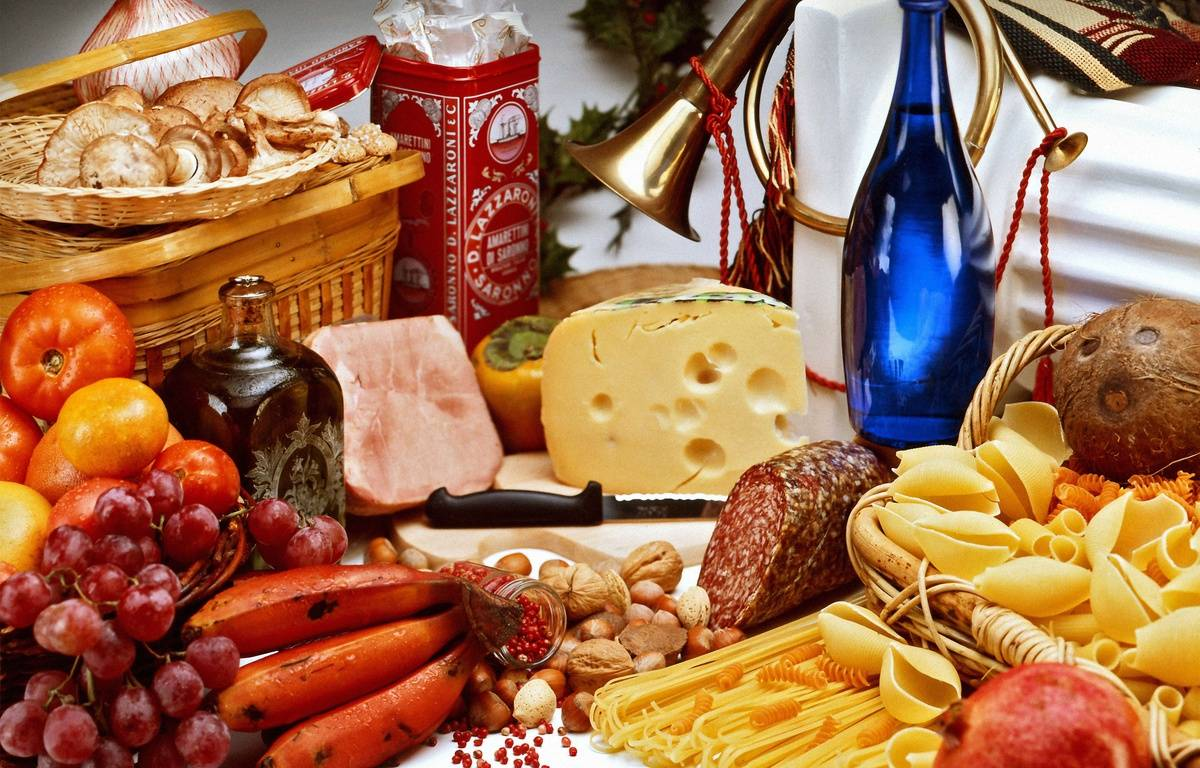Des légumes, du fromage, de la viande, etc. Illustration. – SUPERSTOCK/SUPERSTOCK/SIPA