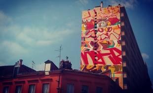 Le graffiti des Toulousains de la Truskool, à Arnaud-Bernard.